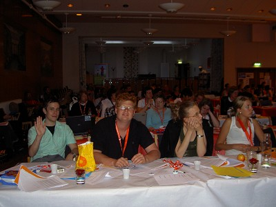 Delegationen under kongressf�rhandlingarna