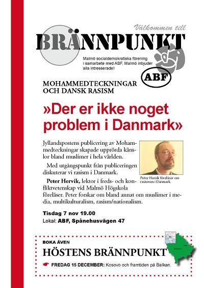 Mohammedteckningar och dansk rasism