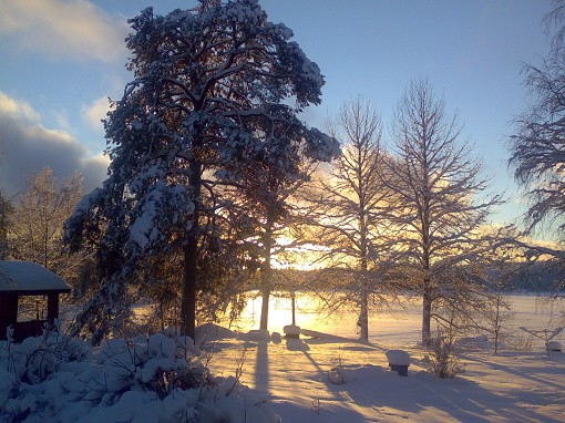 Vinterbild L�ngvattnet