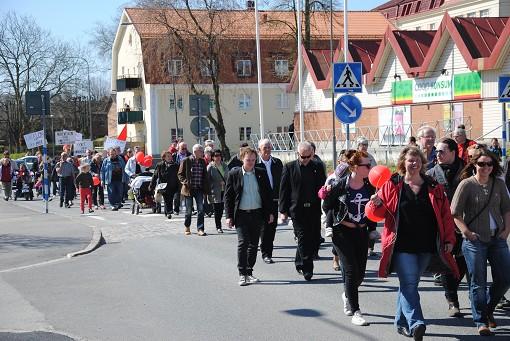 Demonstrationståg i Sölvesborg
