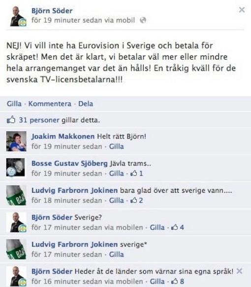 SD anser inte Loreen svensk