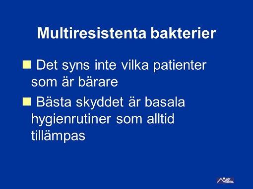 hur sprids multiresistenta bakterier
