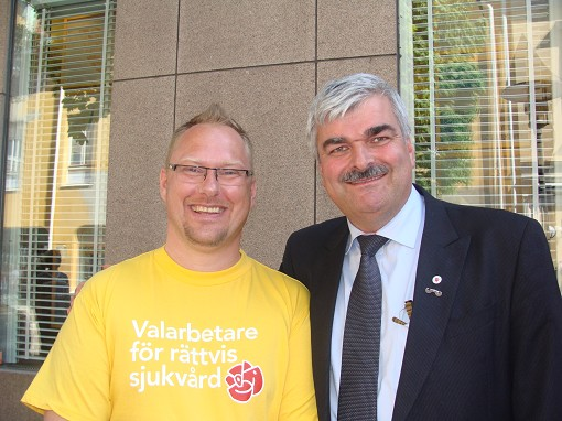 Krister Kronlid och H�kan Juholt