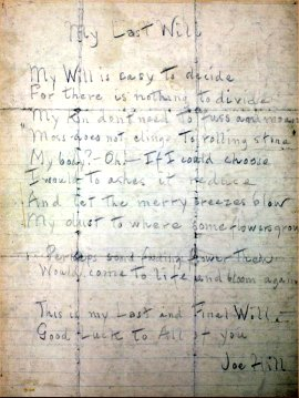 My Last Will (Joe Hill)