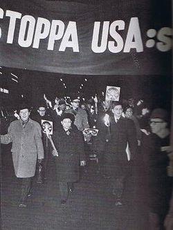 Olof Palme demonstration Vietnam