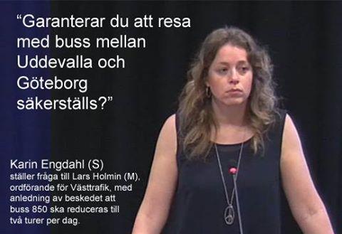 Karin Engdahl i talarstolen i regionfullm�ktige
